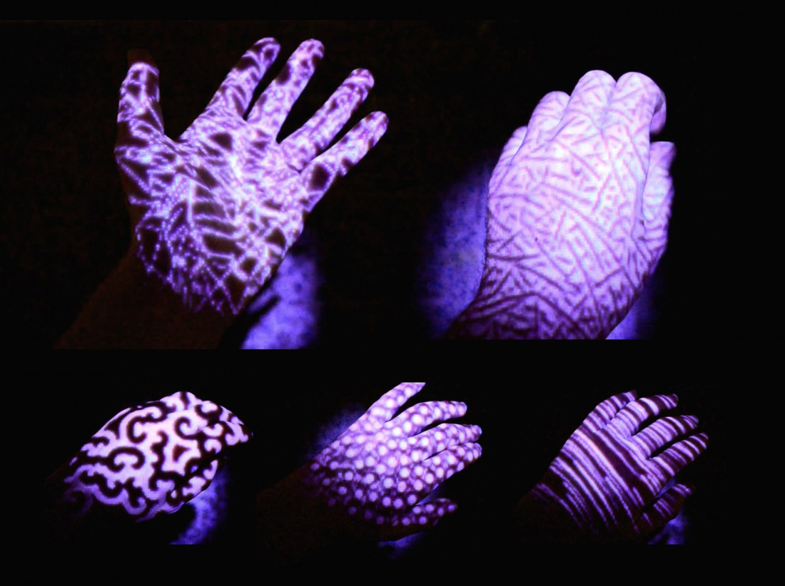 visualization studies - hand/floor projection