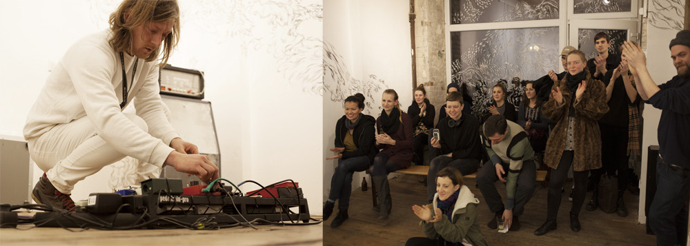 40 minute sound performance - photo by Ana Baumgart